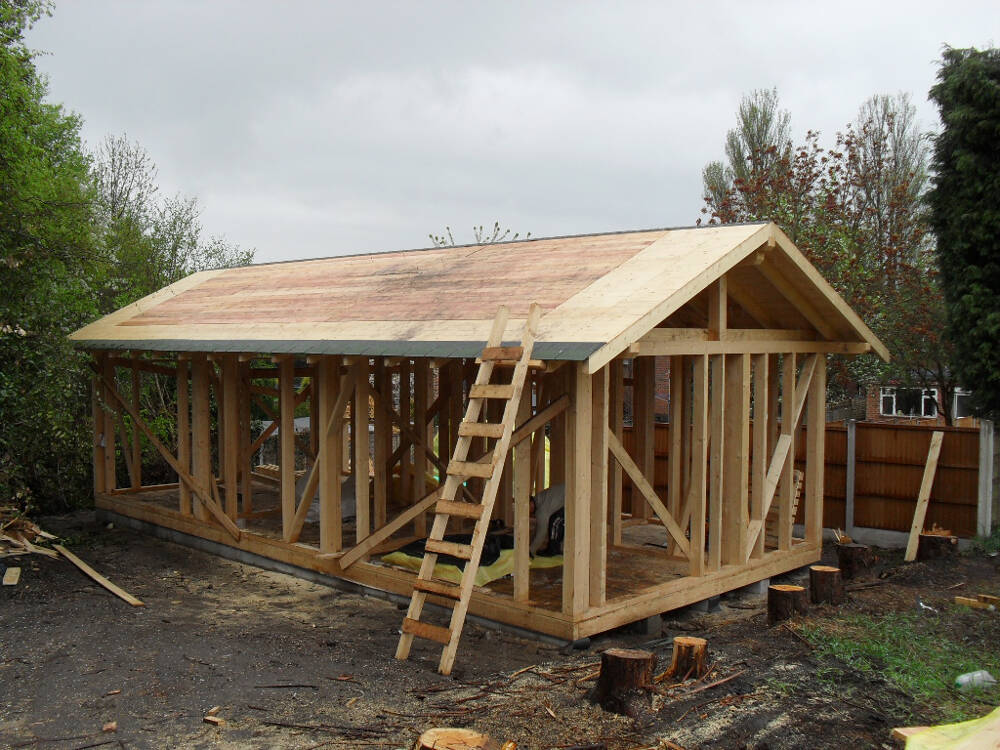 Wooden garden office timberlogbuild ltd for Timber garden office
