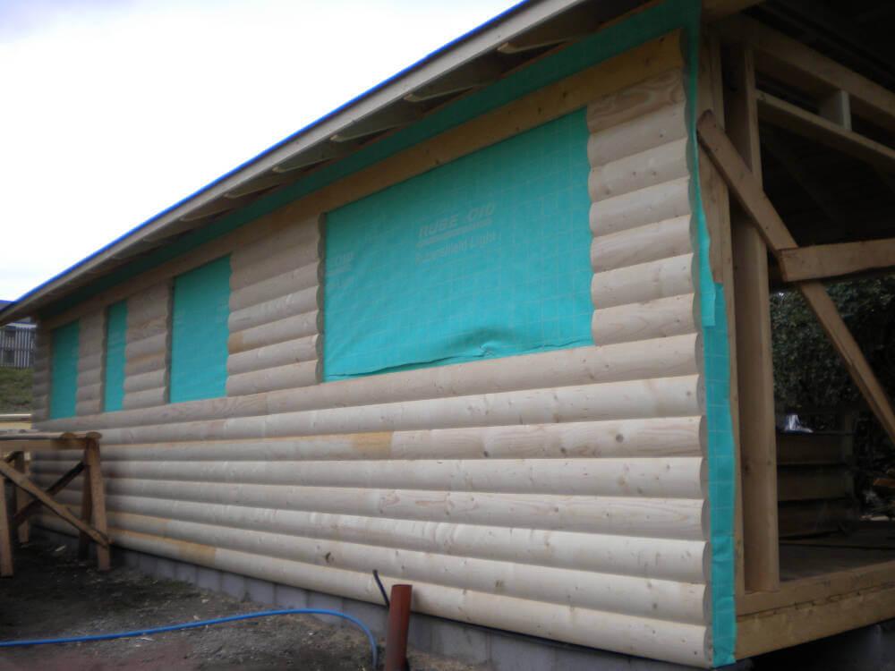 Wooden garden office archives timberlogbuild ltd for Round garden buildings