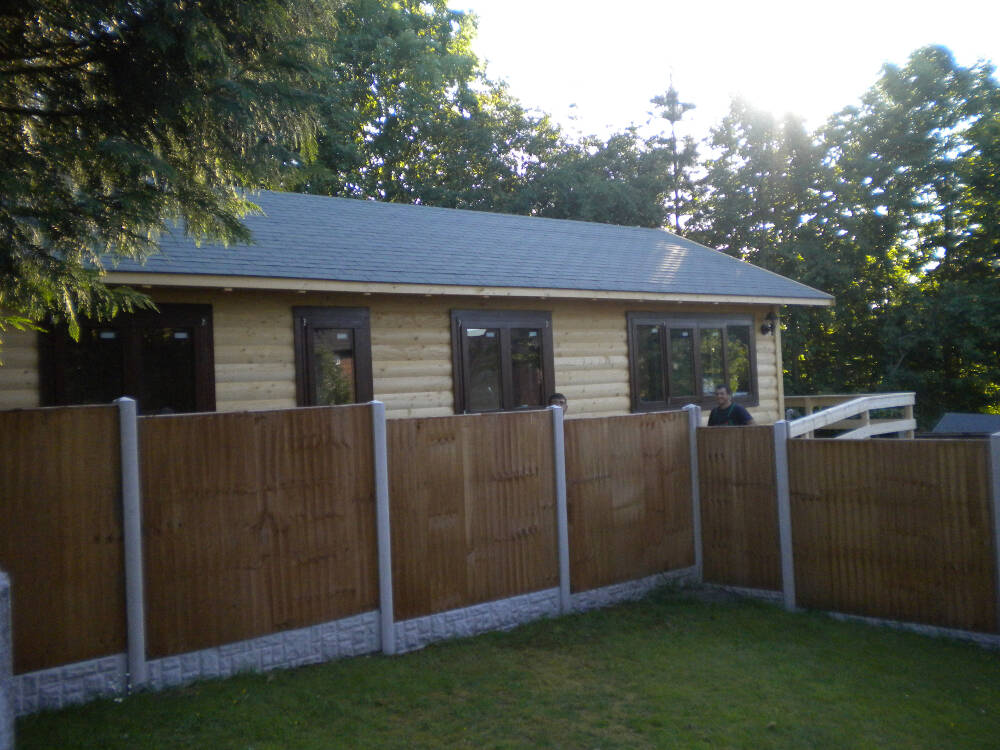 Wooden club houses in kent timberlogbuild Garden office kent