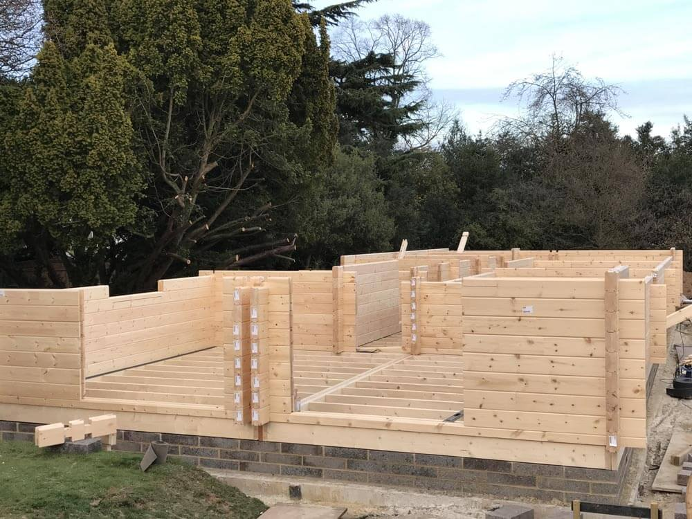Laminated Log With Thermo Wall Timberlogbuild Ltd