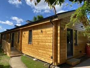 Artichouse Laminated logs 88mm +thermowall Mobile Home Annex (1)